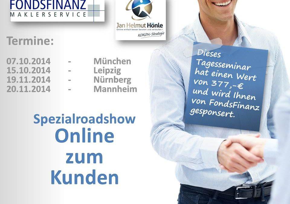 """Spezialroadshow """"Online zum Kunden"""" im zweiten Halbjahr 2014"""