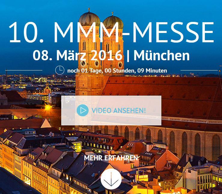 Sehen wir uns auf der 10. MMM-Messe in München?