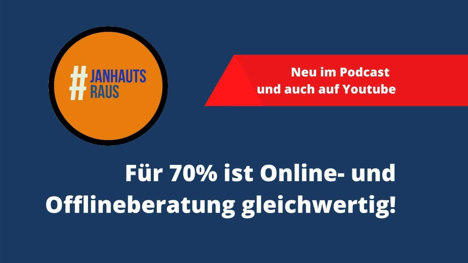 Für 70% ist Online- und Offlineberatung gleichwertig