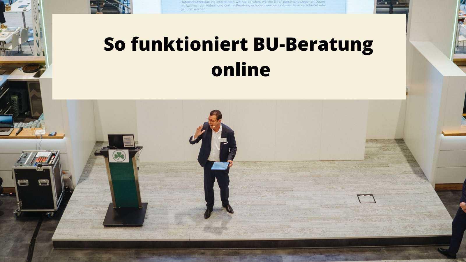 So funktioniert BU-Beratung online