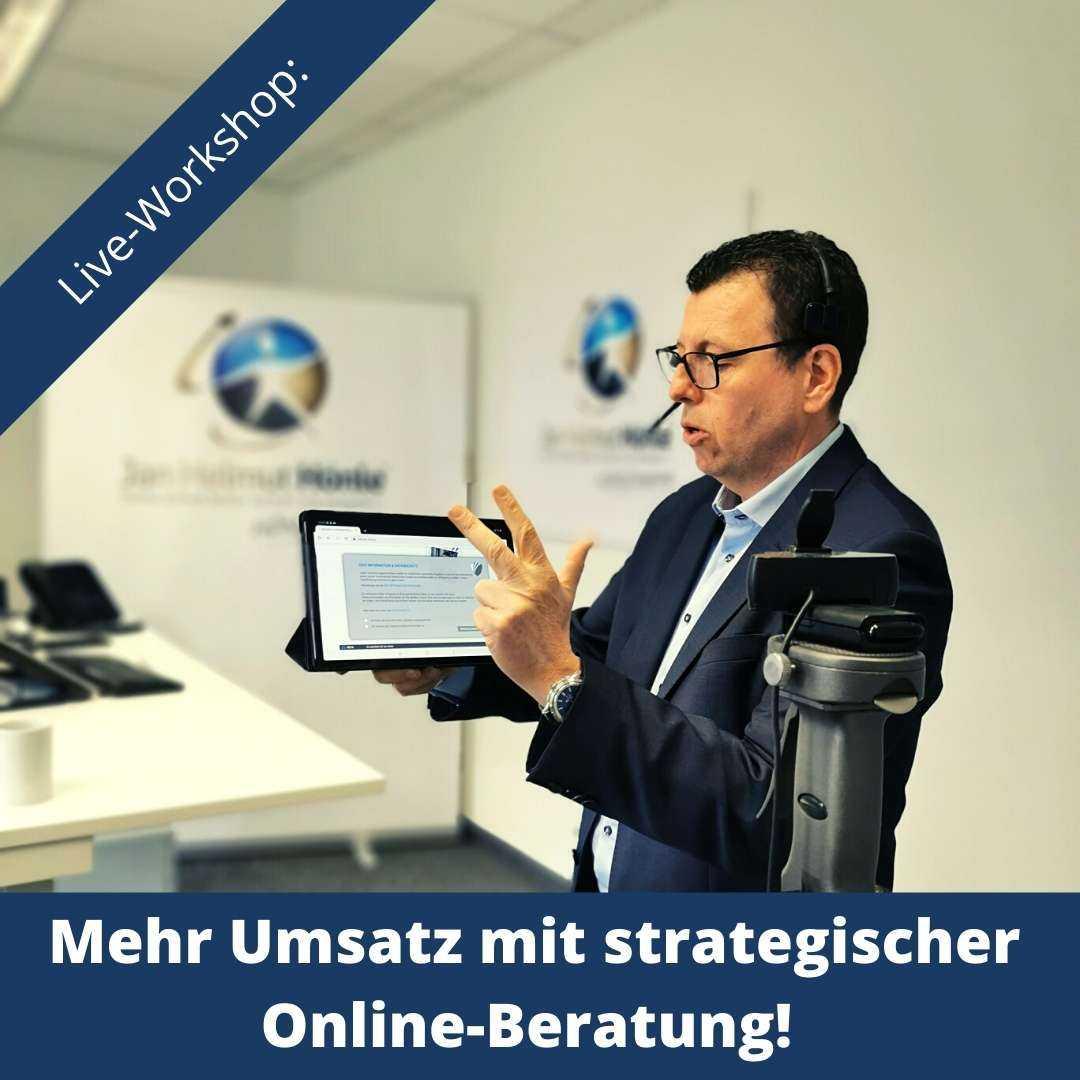 Online-Workshop mehr Umsatz mit strategischer Online-Beratung