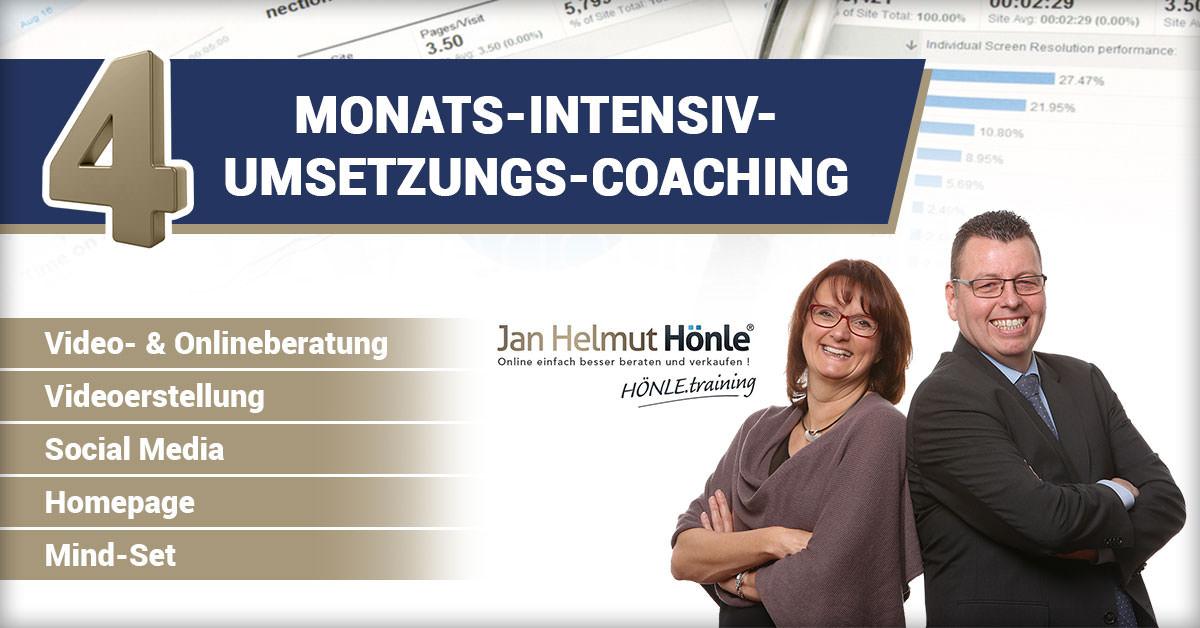 Video- und Onlineberatung - 4-Monats-Intensiv Umsetzungs-Coaching