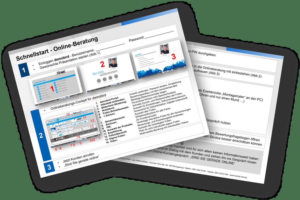 Schnellstart-Vorlage für den perfekten Einstieg in die Onlineberatung