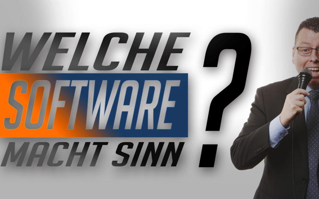 1. Welche Software macht Sinn