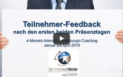 Teilnehmer-Feedback zum Coaching