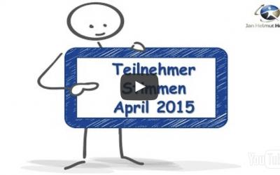 Teilnehmerstimmen aus April 2015 zum Coaching zur Videoberatung